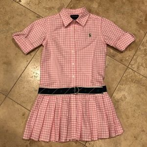 RALPH LAUREN | Girl's Gingham Shirt Dress
